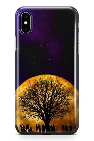 Lopard iPhone Xs Max Kılıf Silikon Arka Kapak Koruyucu Ay Işığında Parti Desenli Full HD Baskılı Renkli